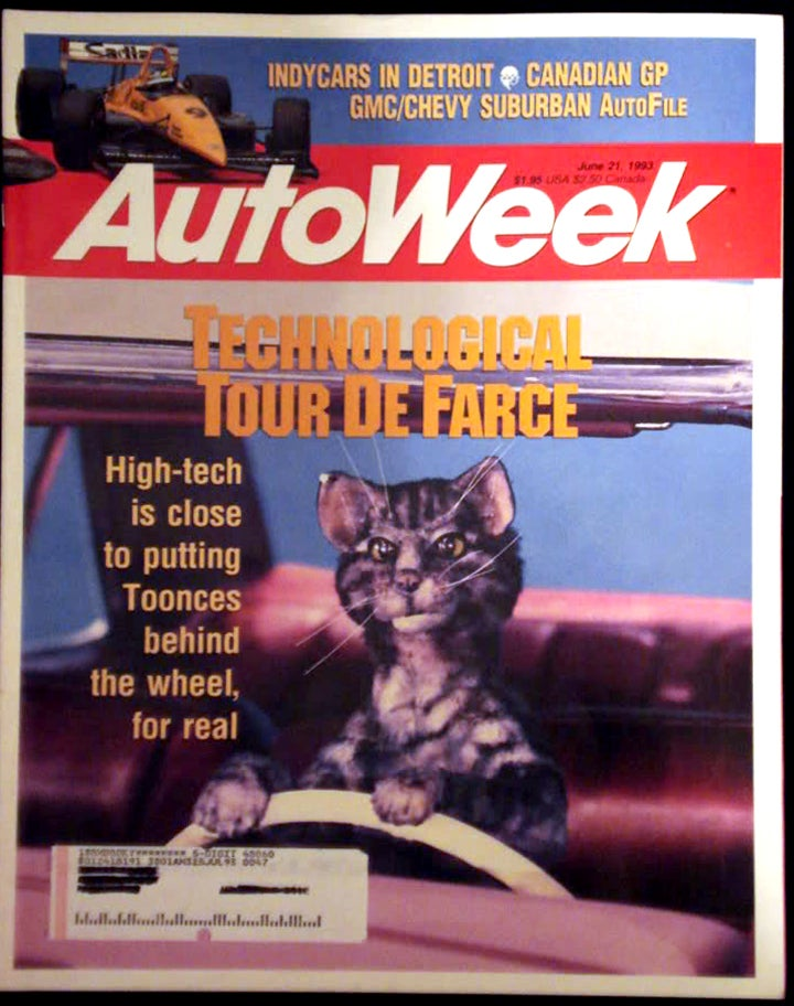 We once put Toonces on Autoweek