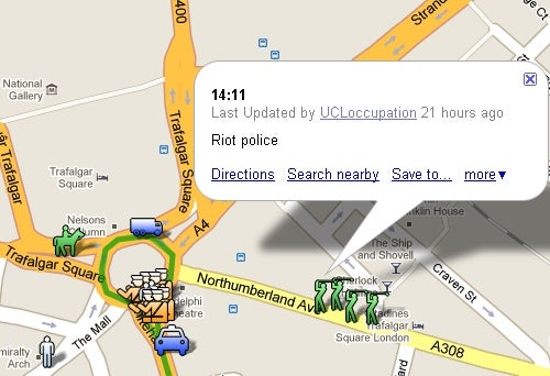 Rioting London Students Created Live Google Maps War Room