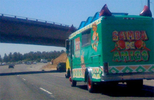 Samba de Amigo: The Truck Spotted On Unspecified Freeway