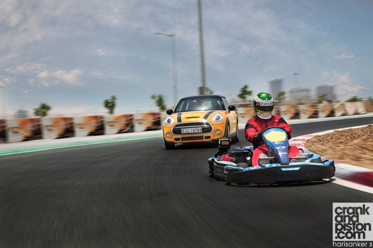 MINI Cooper S vs Sodi go-kart. That 'go-kart feeling'