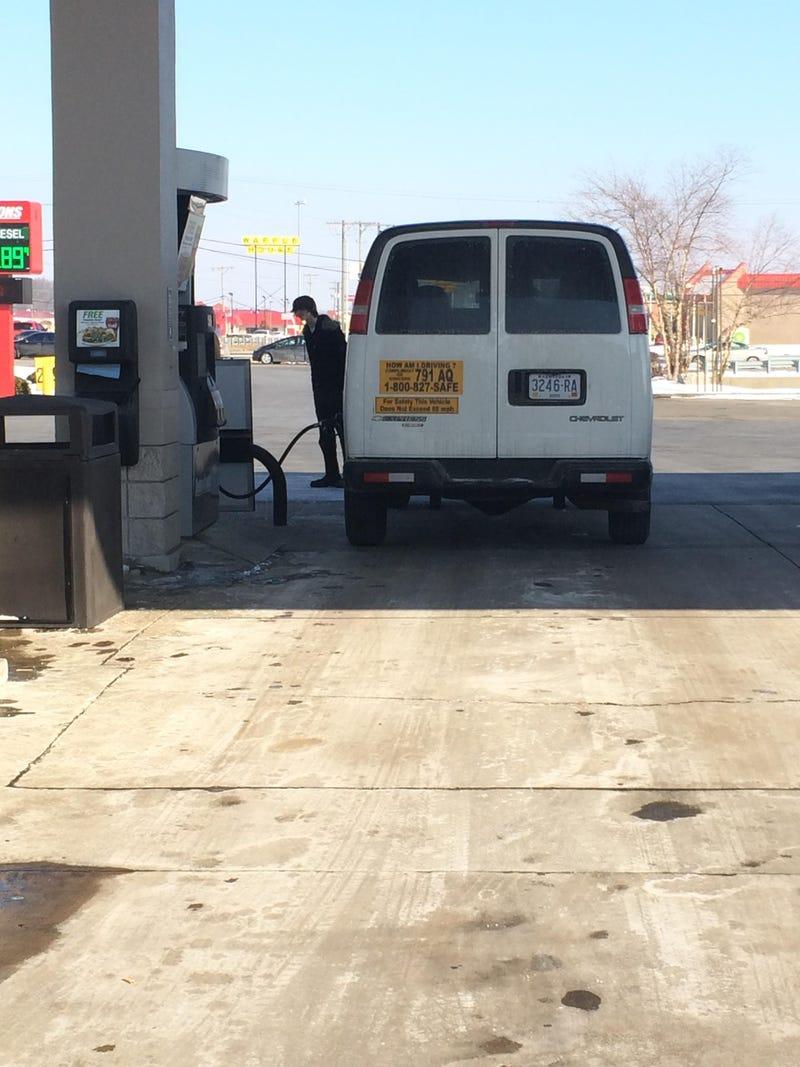Smoking at the gas station? Again?