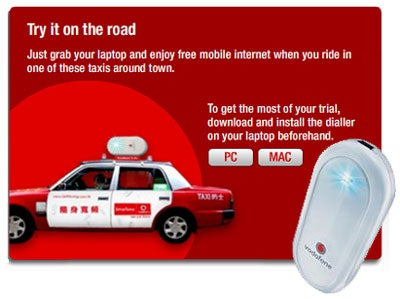 Hong Kong Taxis Offering Free HSDPA Access