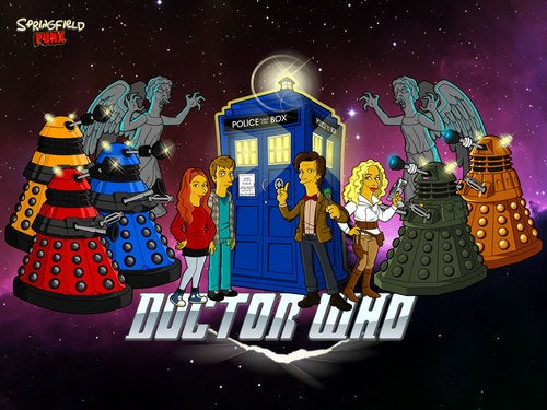 The new Doctor Who era gets a Simpsons twist