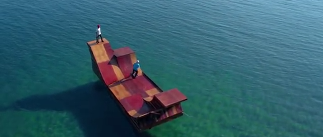 Let's All Take a Sick Day And Skate on This Rad Floating Ramp