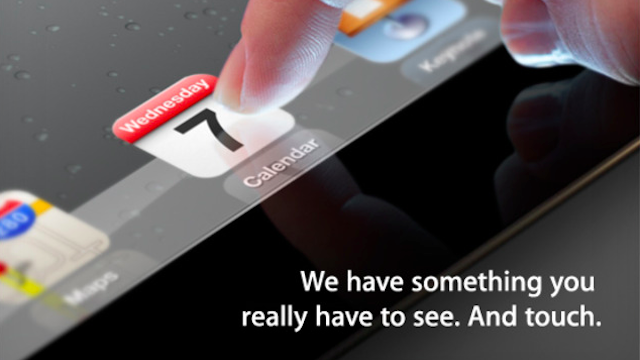Apple Will Announce the Next iPad on March 7th