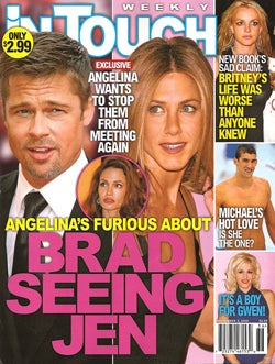 This Week In Tabloids: Jen's Seeing Brad, Shannen's Being Bitchy, Britney Attempts Suicide