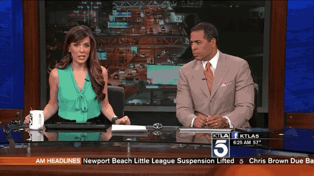 Here's a Local News Team Freaking Out About the Earthquake in LA