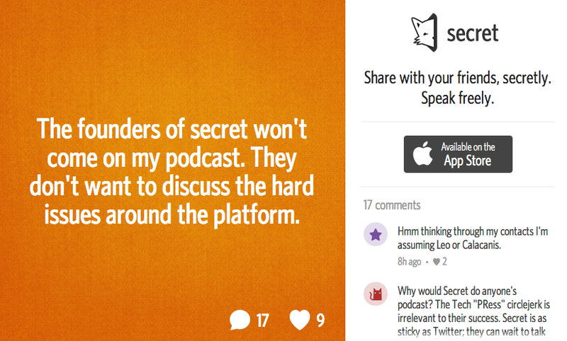 Jason Calacanis Whines About Secret on Secret