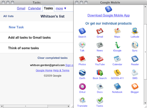 Google Tasks Client Puts Tasks (or Any Google App) On Your Desktop