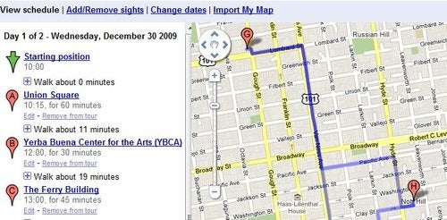 Google City Tours Adds Walking Directions, Custom Maps