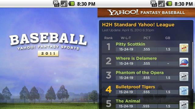 Yahoo! Fantasy Baseball App Now Available for Android
