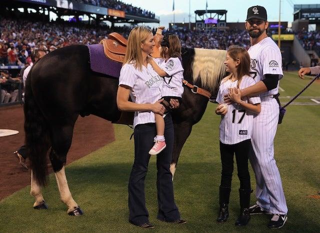 Todd Helton Got A Horse