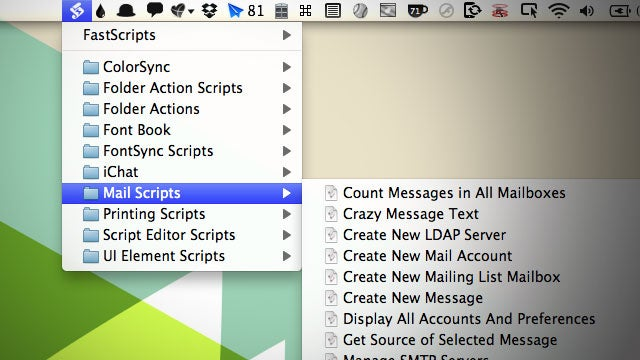 FastScripts Puts Your AppleScripts in Your Menubar and Lets You Assign Keyboard Shortcuts