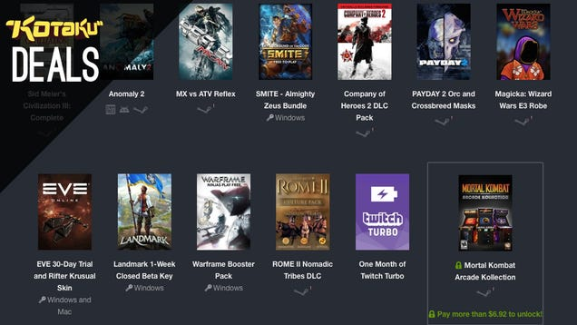 Deals: Humble Twitch E3 Bundle, PS4/Vita Bundle, PS+, Civ V, Logitech