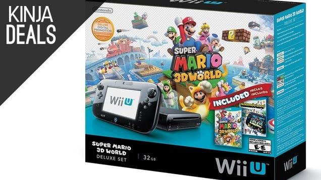 Grab a Wii U Deluxe Bundle for Just $250, While They Last