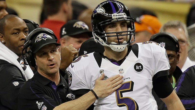 Joe Flacco Was Ready To Leave The Sideline And Tackle Ted Ginn On The Super Bowl's Last Play