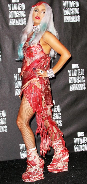 If Lady Gaga Said Her Meat Dress Was a Statement About Leather, Would PETA Like It?