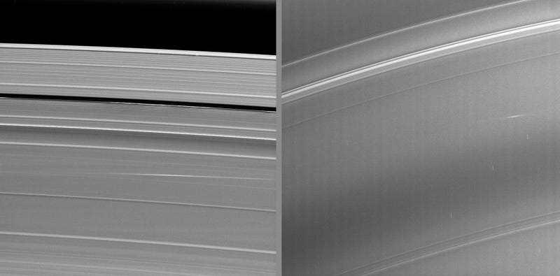 Here's what it looks like when meteors hit the rings of Saturn