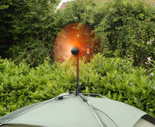 Tent-Mounted Wind Charger Powers Up That Cellphone in the Wilderness