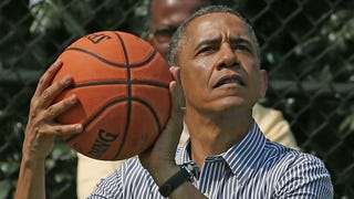 An Impromptu (And Fictional) Game Of Hoops With Barack Obama