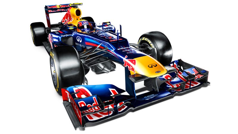 2012 Red Bull F1 Car Shows Competitors Its Nose For The Last Time