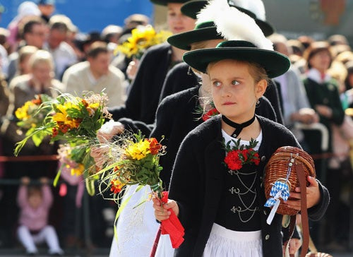 Small German Girl Clearly Frustrated By Lack Of Beer In Her Hand