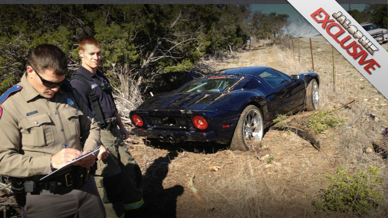 EXCLUSIVE: Jesse James did wreck 1,000 HP supercar, son claims