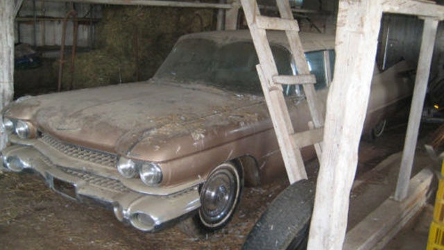 1959 Cadillac Fleetwood Limo is one rare barn find