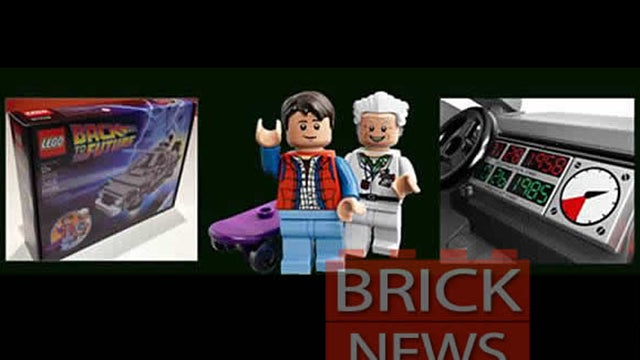 Behold the First Images of the Official Lego Back to the Future Set!