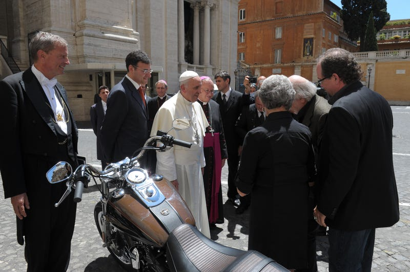 The Pope Is Selling His Harley