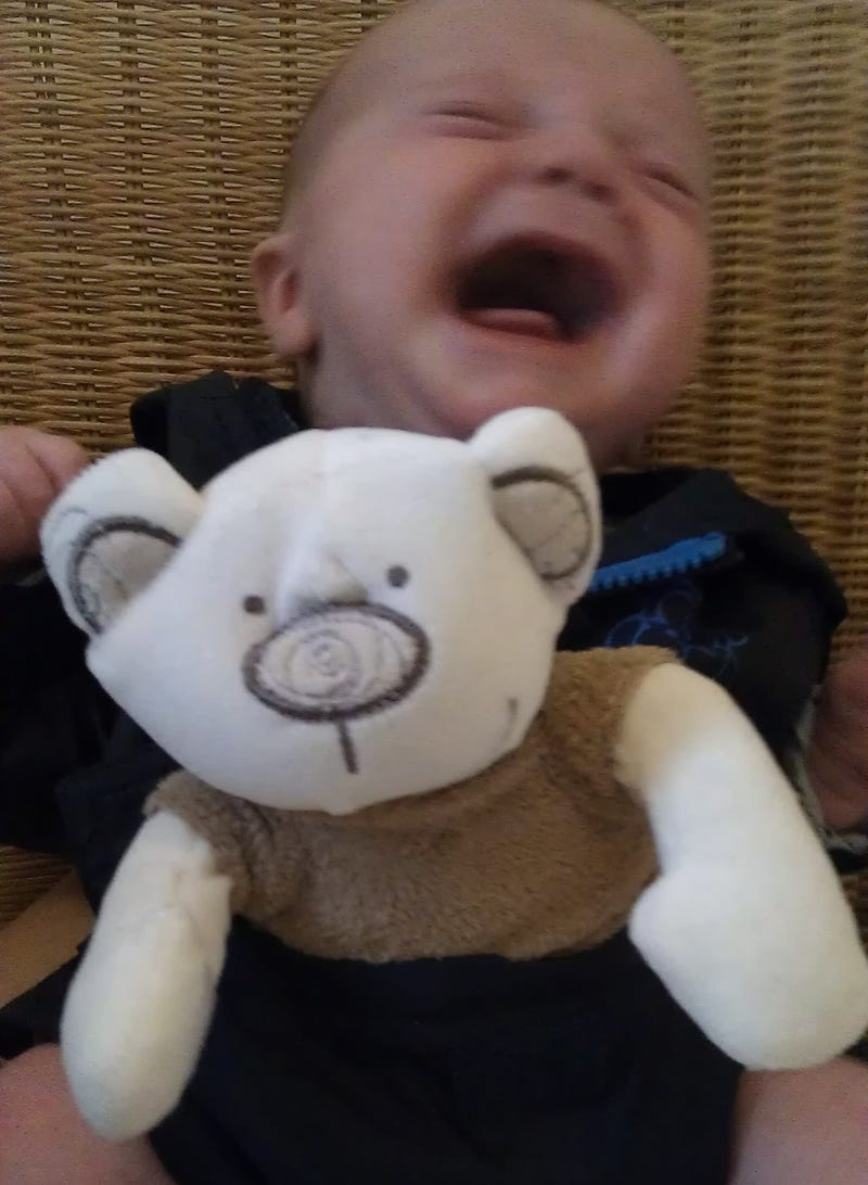 A blissfully confused baby reenacts scenes from classic scifi and fantasy films
