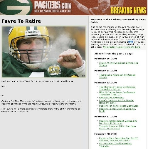 The Favre Retirement Snafu Mystery