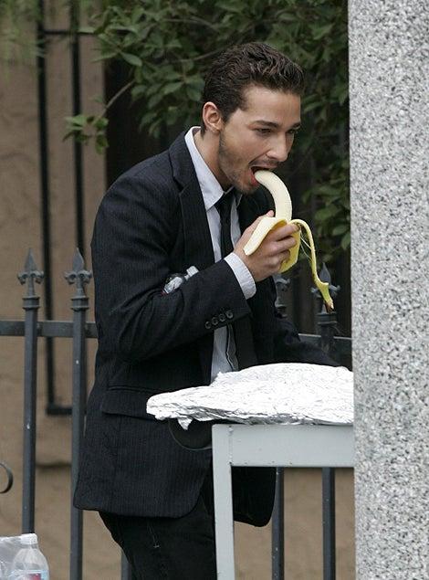 Shia LaBoeuf Gets Intimate With A Banana