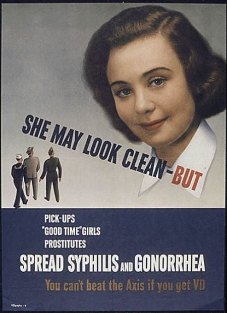 Vintage Propaganda Posters Warn Against STD-Riddled Women
