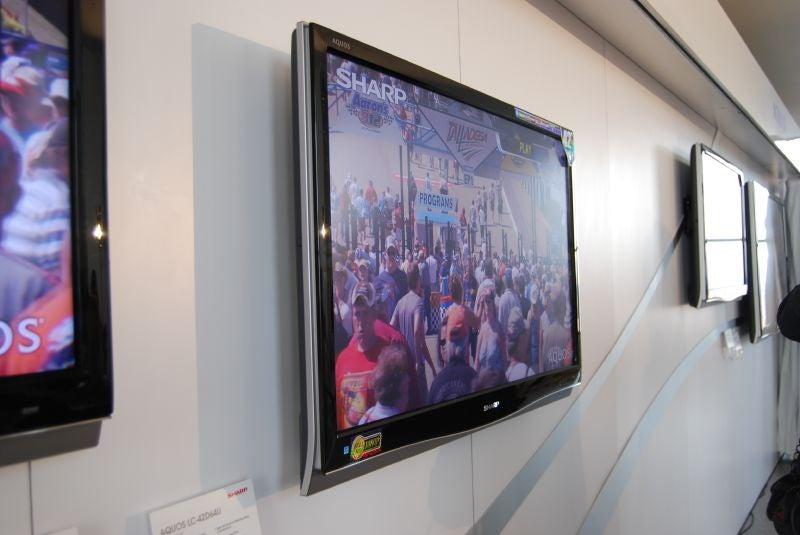 Sharp Unveils D64U, The Thinnest Aquos LCD TV Line Ever