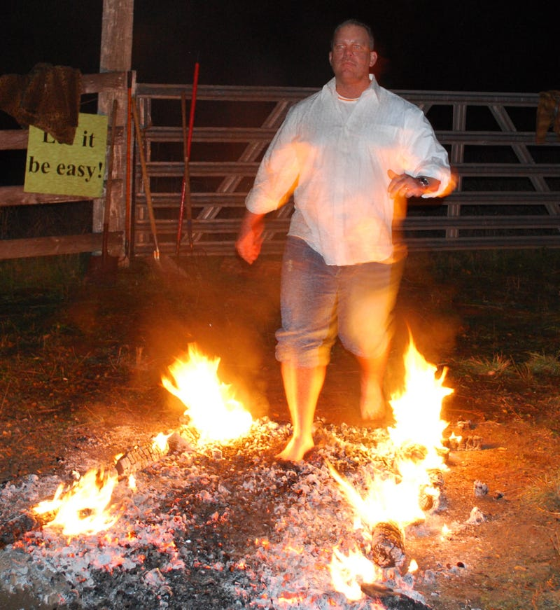 The Physics of Firewalking