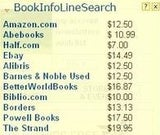 BookInfoLine Automatically Compares Book Prices as You Shop