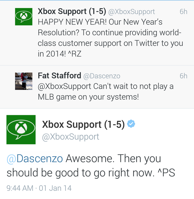 Xbox Customer Support: No. 1 Among Baseball Fans