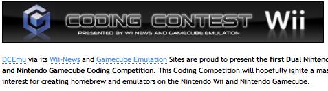 Wii/Gamecube Coding Contest