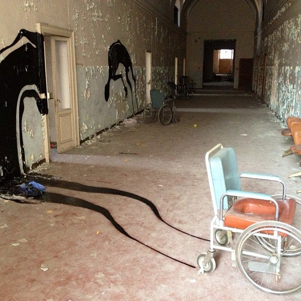How do you make an abandoned asylum even creepier? Add eerie shadows