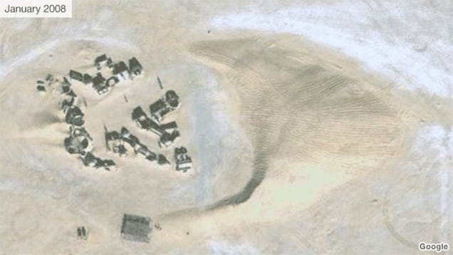 The Desert Is Swiftly Swallowing Darth Vader's Old House