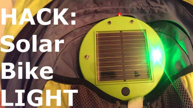 Make a Solar Powered Bike Light out of a $20 IKEA Lamp