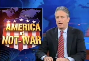Jon Stewart Criticizes Obama for Not Communicating Over Libyan Action