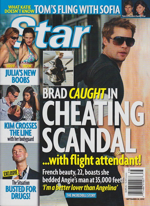 This Week In Tabloids: Brad Cheats On Angie With Flight Attendant