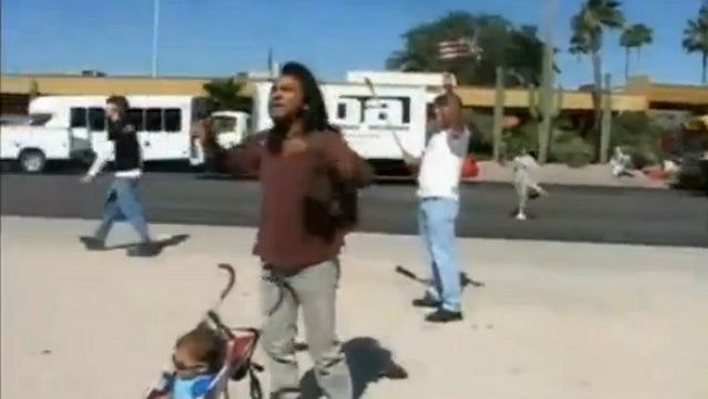 Native American Drops Some Much Needed Knowledge on Crowd of Illegal Immigration Protesters