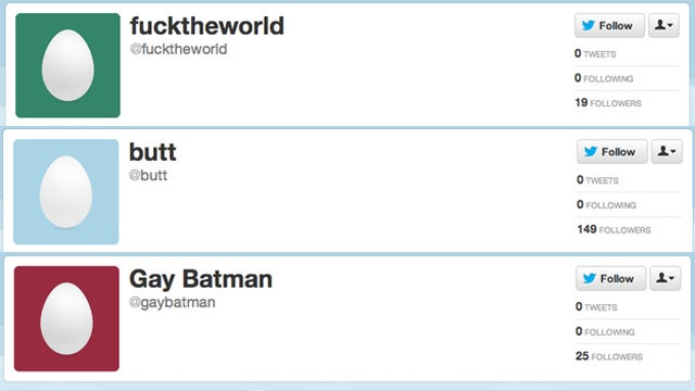 The Most Awesome Twitter Names That Sadly Aren't Being Used