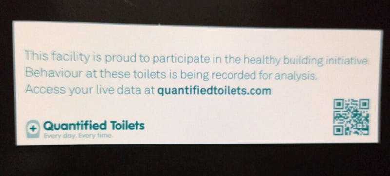 Your Behavior In This Toilet Is Being Recorded For Analysis