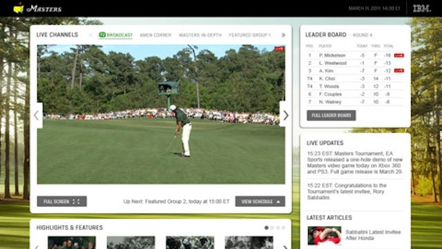 Watch The Masters on Your iPad