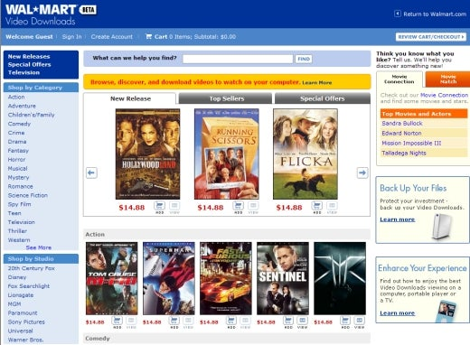 Straight From Sam Walton's Mouth: New Details on Wal-Mart Movie Download Service