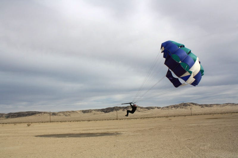 The dangerous thrill of off-road parasailing